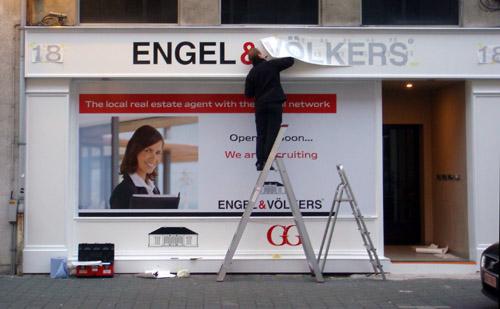 Engel & Völkers etalagebelettering