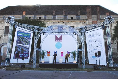 Onthulling stadslogo Mechelen