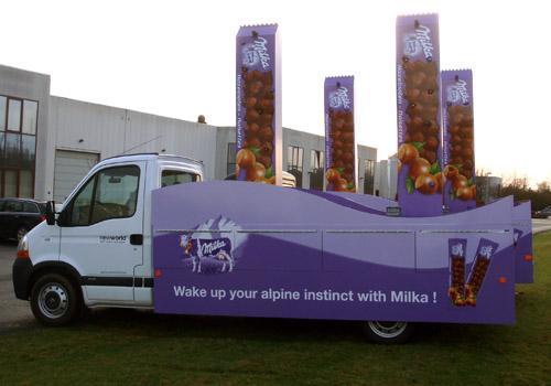 Milka promowagens