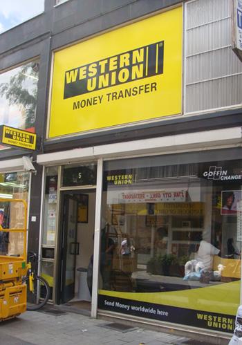 Western Union shop re-branding